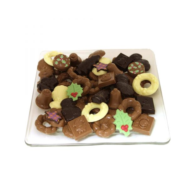 Kerst chocolade floran schaal klein