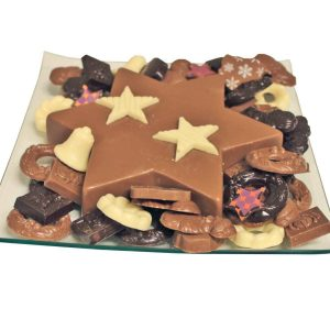 Kerst chocolade schaal ster floran