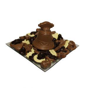 kerst chocolade geschenk klok