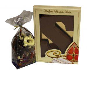 Chocolade letter geschenk