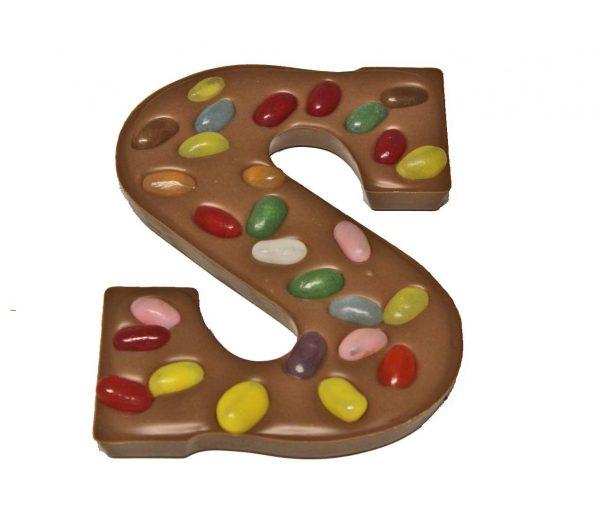 Chocoladeletter jellybean