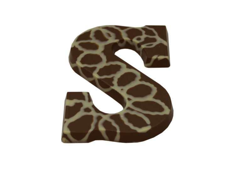 Caramel chocolade letter