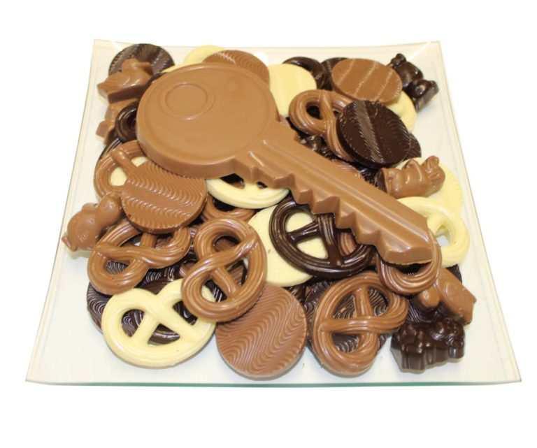 Chocolade sleutel geschenk