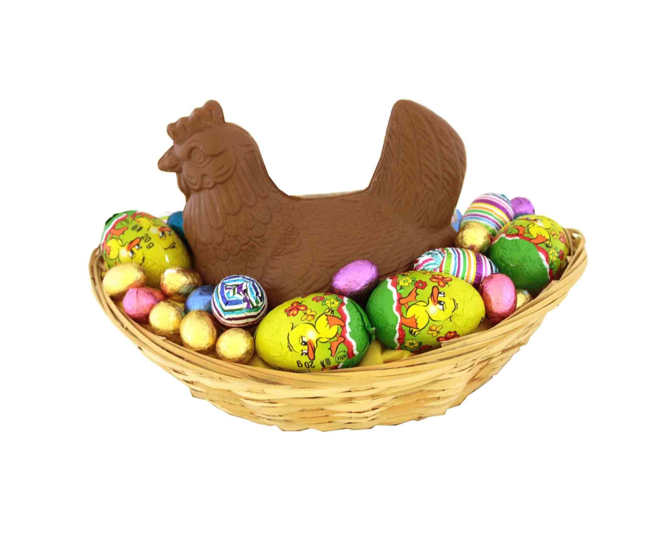 Kip Op Mand Groot Chocolade Geschenkennl