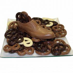 chocolade heren schoen