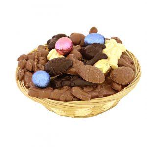 chocolade paas mandje