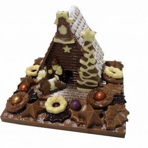 kersthuis met extra chocolade