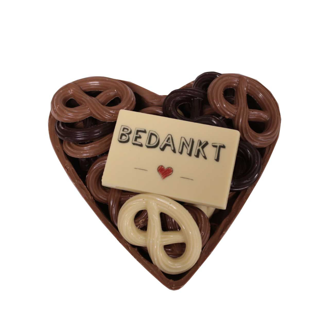 chocolade hart bedankt
