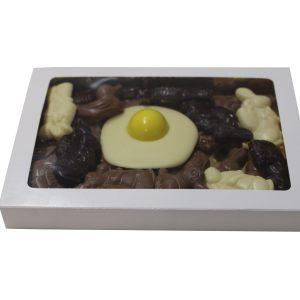 Geschenkverpakking paas chocolade met spiegel